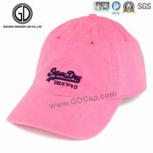 Casquette de baseball de golf de sport de sergé de coton de haute qualité de broderie de mode