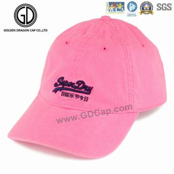 Gorra de béisbol de alta calidad del golf del deporte de la tela cruzada del bordado de la moda