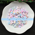 Acrylic Plastic Loose Alphabet Letter Beads Square Cube Shape 6*6MM