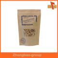 Papel impermeable impreso a prueba de humedad kraft resellable stand up bolsas de embalaje para las galletas