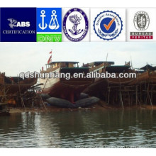 Uso para el barco de madera que lanza el saco hinchable de caucho natural para barcos