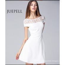 Новая мода женщины лето кружева Выдалбливают сексуальное платье