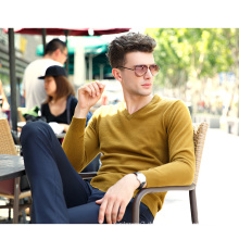 Herren Cashmere-Pullover mit V-Ausschnitt (13brdm001-7)