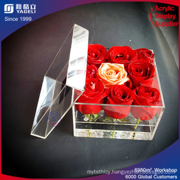 Chinese Brand Lower Price Acrylic Flower Vases with Lid