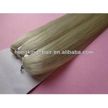 suave e suave 5a 100% platinum cabelo loiro, platina loiro remy cabelo tecer
