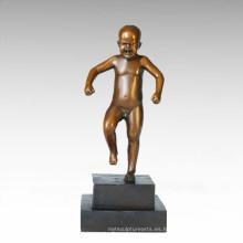 Niños figura estatua niño enojado niño escultura de bronce TPE-747