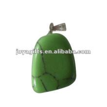 Turquoise Gemstone Tumbled Stone Pendants