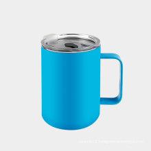 300ml Plastic Lid With Straw Vacuum Mug