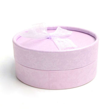 Pink Color Round Shaped Jewelry Gift Box