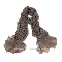 100% viscosa bufanda suave arrugas