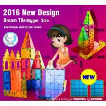 Popular nuevo diseño educativo bloques magnéticos juguetes 2016