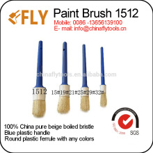 different colors round paint brush