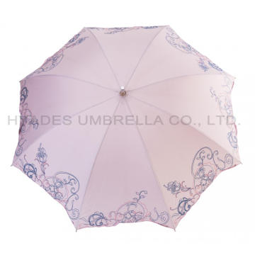 Rosa Slide Parasol Women's Brodery Straight Paraply