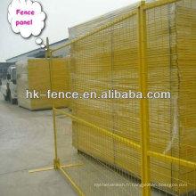 Les nouveaux panneaux peints de clôture de construction de 6ftx10ft incluent des clips supérieurs et des bases