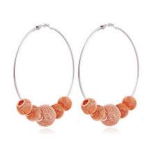 Beliebte Basketball Frauen Ohrringe Perlen Hoop Ohrringe BWE06
