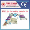 Chaîne de production thermo-adhésive non-tissée