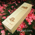 Puestos de vino de madera Single Sticks Pine Gift Box