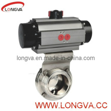 Sanitary Pneumatic Thread Butterfly Valve