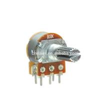 WH148-1AK-1 Doppel-Doppel-Dreh 10k linear Potentiometer 6 Pin mit Schalter
