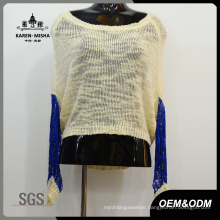 Women Contrast Color Knit Clothes