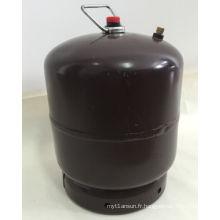 Cylindre de gaz LPG et réservoir d'essence en acier, couleur café brun