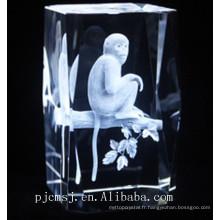 2017 vente chaude nouveau design cristal cristal de pierre bijoux cubes de cristal blanc pour la gravure