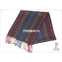 Colorful Woven Silk Head Scarf Stripe Long For Male