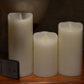 battery powered realistic flameless candles with moving flame
