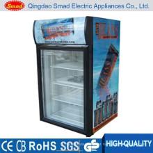 Porta de vidro único portátil mini bar geladeira preço da geladeira