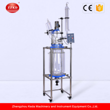 Laboratory Cylindrical Double Wall Jacketed Glass Reactors
