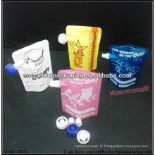 Sacs de bec pour des boissons ou des liquides / pochette en plastique de fermeture à glissière pour la catégorie comestible de bébé