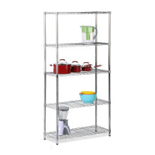5 Tiers Home Steel Chrome Wire Rack NSF Approval 14 Years Factory (LD12045180A5C)