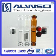 Capa de frasco analítico e frasco de crimpagem por extrusão automática