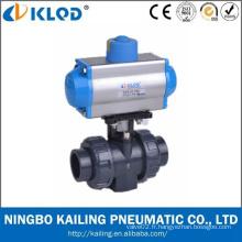 KLQD Marque Pneumatic Power PVC Material 1/2 Inch 2 Inch 4 Inch PVC Ball Valve