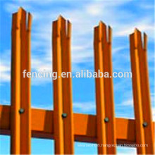 British Standard palisade fence/Colourful D or W shaped Palisade Fence