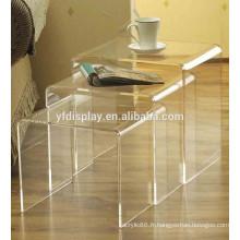 ensembles de table à café en acrylique transparent