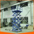 warehouse cargo loading scissor lift