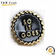 Aimants de réfrigérateur en métal émail doux noir Ym1061