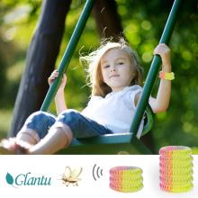 Rainbow color EVA spring stretch mosquito repellent bracelet