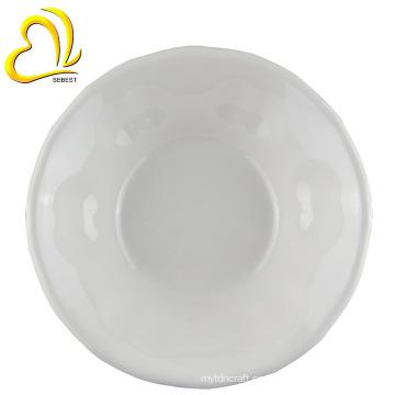"""Imitación de diseño de cerámica de 8 """"ensaladeras de melamina de plástico redondo"""