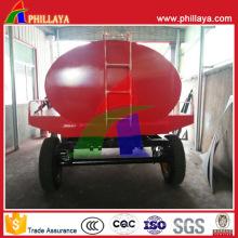 Caminhão de petroleiro da água do aço carbono do Tri eixo