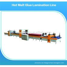 Máquina caliente del rodillo del pegamento de la fusión / aplicador caliente del sistema del pegamento de la fusión