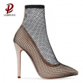 thin high heel net elegant shoe pump