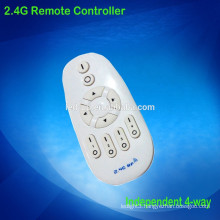Control distance 20-50m 2.4g remote controller for led smart lighting