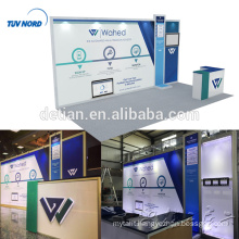 Detian Offer wholesale tension fabric aluminium exhibition booths with lighting backdrop