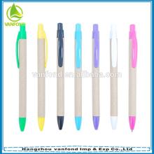 Promotion de l'agrafe en plastique ECO papier stylo, crayon de papier recyclé, papier stylo