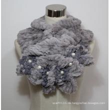 Lady Fashion Kunstpelz Perlen Schal (YKY4365A-3)