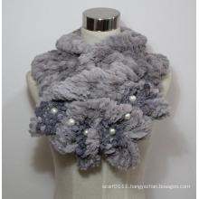 Lady Fashion Faux Fur Pearl Scarf (YKY4365A-3)