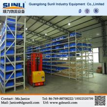 Dongguan hohe Qualität Tabletts Karton Schwerkraft fließen Lager Lagerung Regale