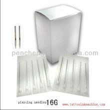 Agujas estériles de perforación 16G